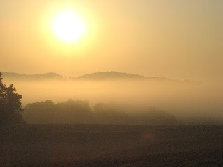 sunrise over field