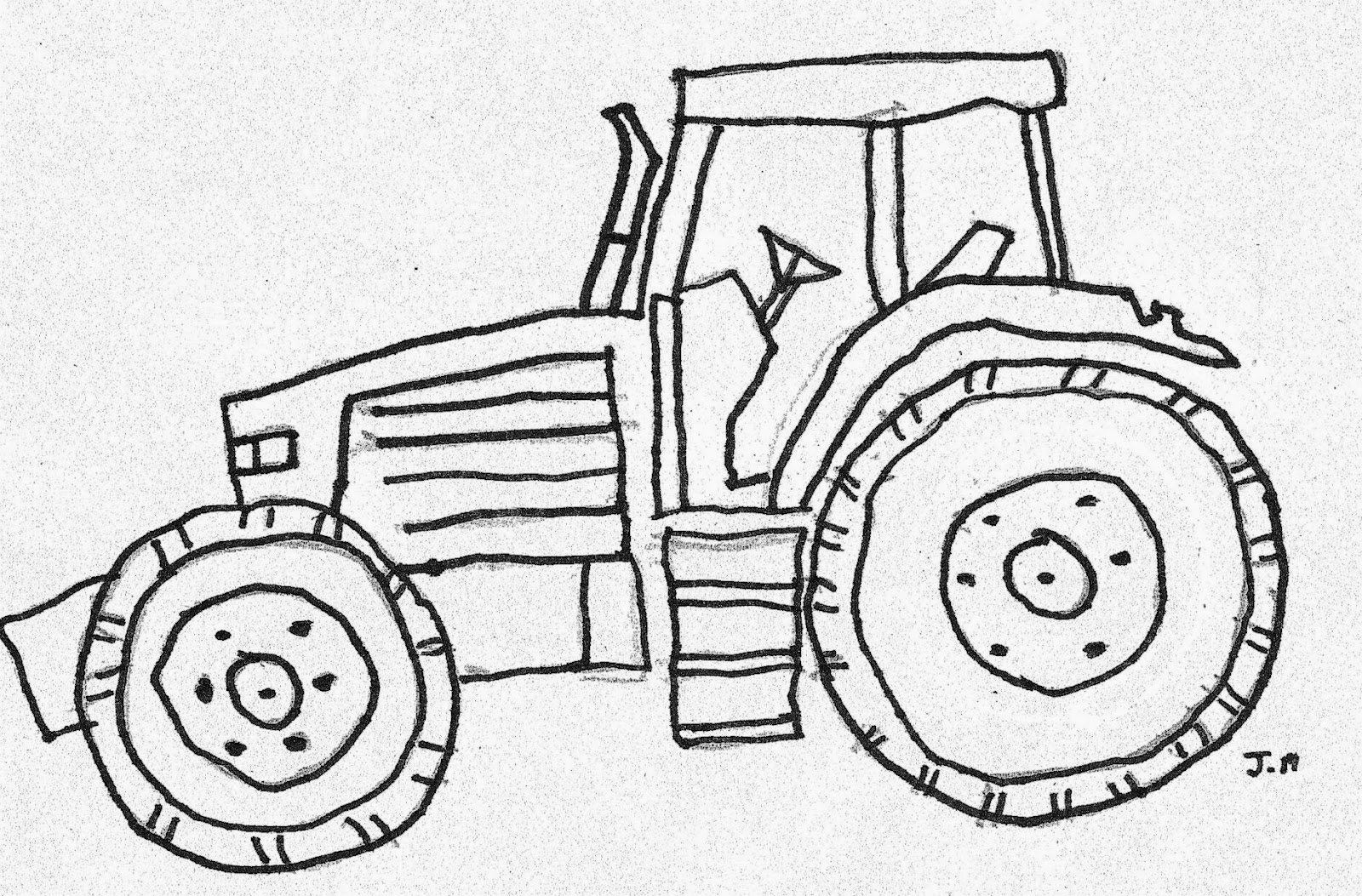 Clip Art Coloring Page Tractor tractor coloring pages eassume com big boss to print free tractors farm