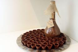 Copos de chocolates para licores