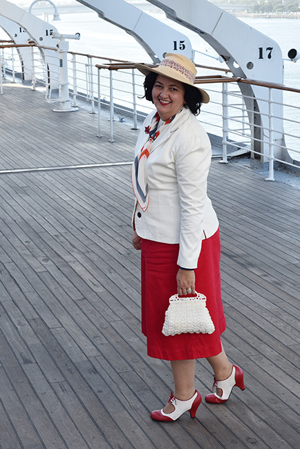 Queen Mary Art Deco Festival 1930s outfit