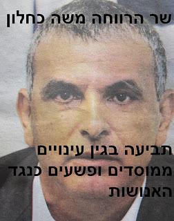 תביעה נגד שר הרווחה משה כחלון בגין עינויים ממוסדים ופשעים כנגד האנושות