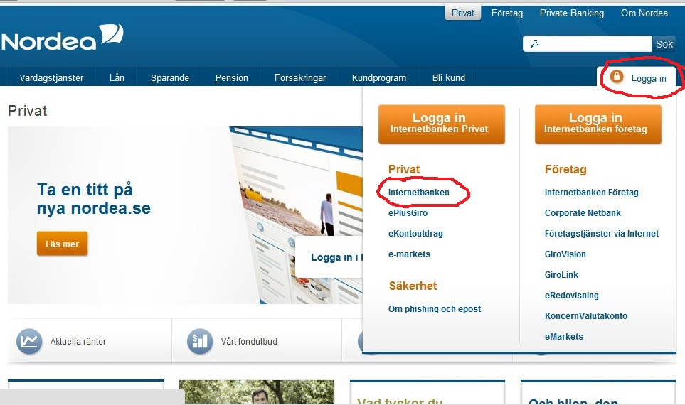 nordea bank clearing number