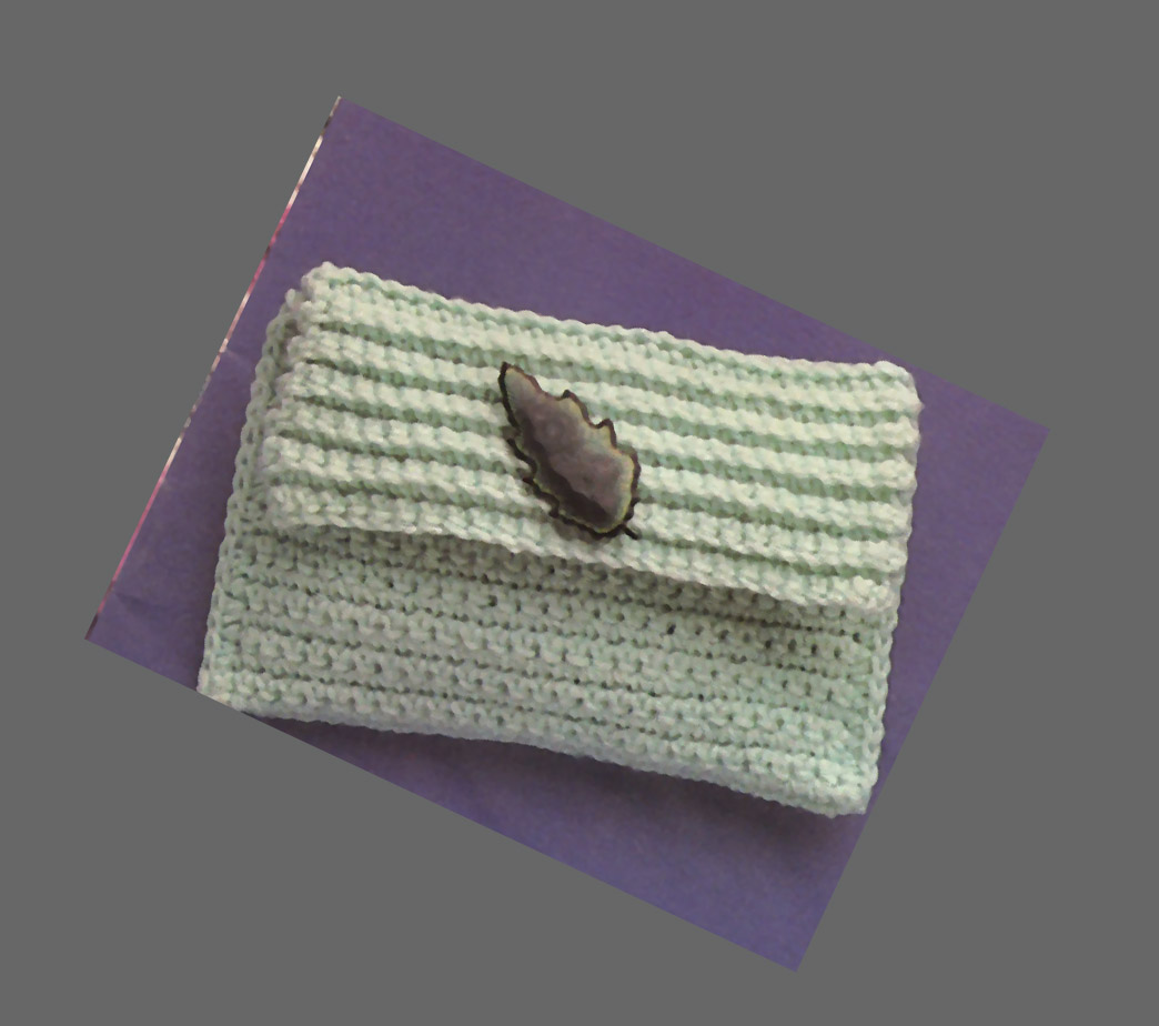 Free Crochet Clutch Pattern : Todays Treasure Shop Talk: Crochet Clutch Bag, Free Pattern