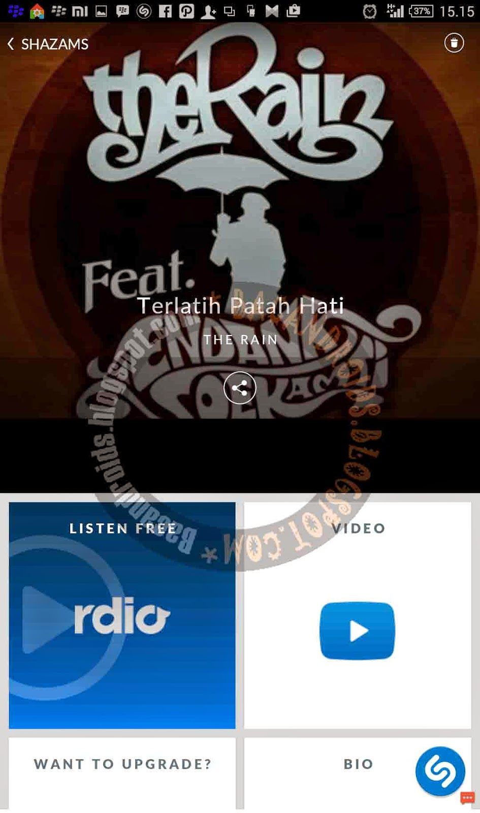 Cara mengetahui Judul Lagu dengan app Shazam