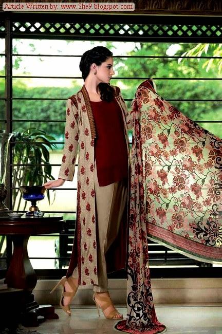 Gul Ahmed Velvet Dress Collection for Winter / Fall 2014-2015