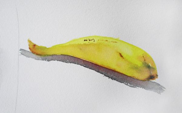 acuarela de un plátano