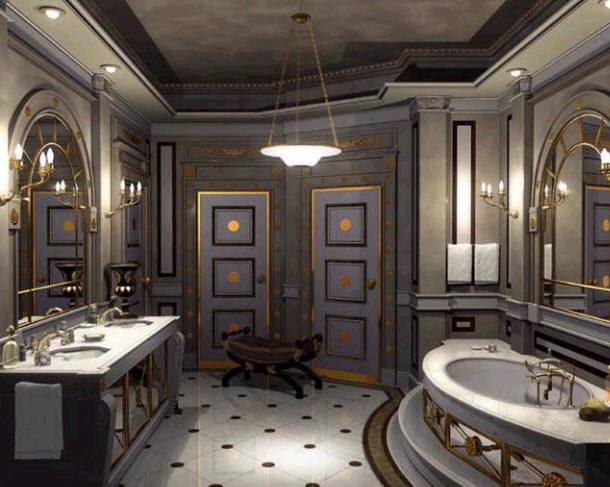 Baños Diseno Clasico:En el revestimiento de pisos se puede optar por un efecto monocolor o