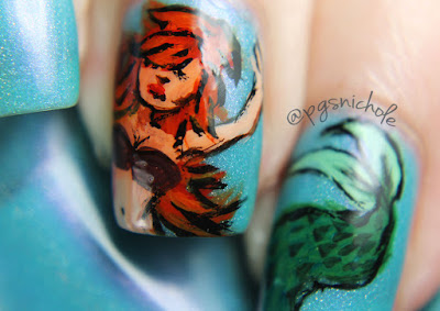 40 Great Nail Art Ideas: Mermaids + Orange, Purple, and Green
