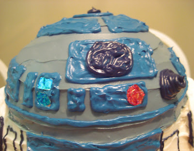 Star Wars 3D R2-D2 Cake - Close-up of Dome