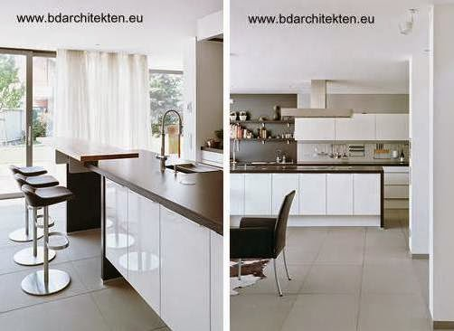 Cocina contemporánea en residencia reformada alemana