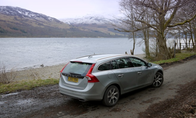 Volvo V60 PHEV plug-in hybrid rear view