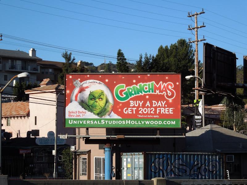 Grinchmas Universal Studios billboard