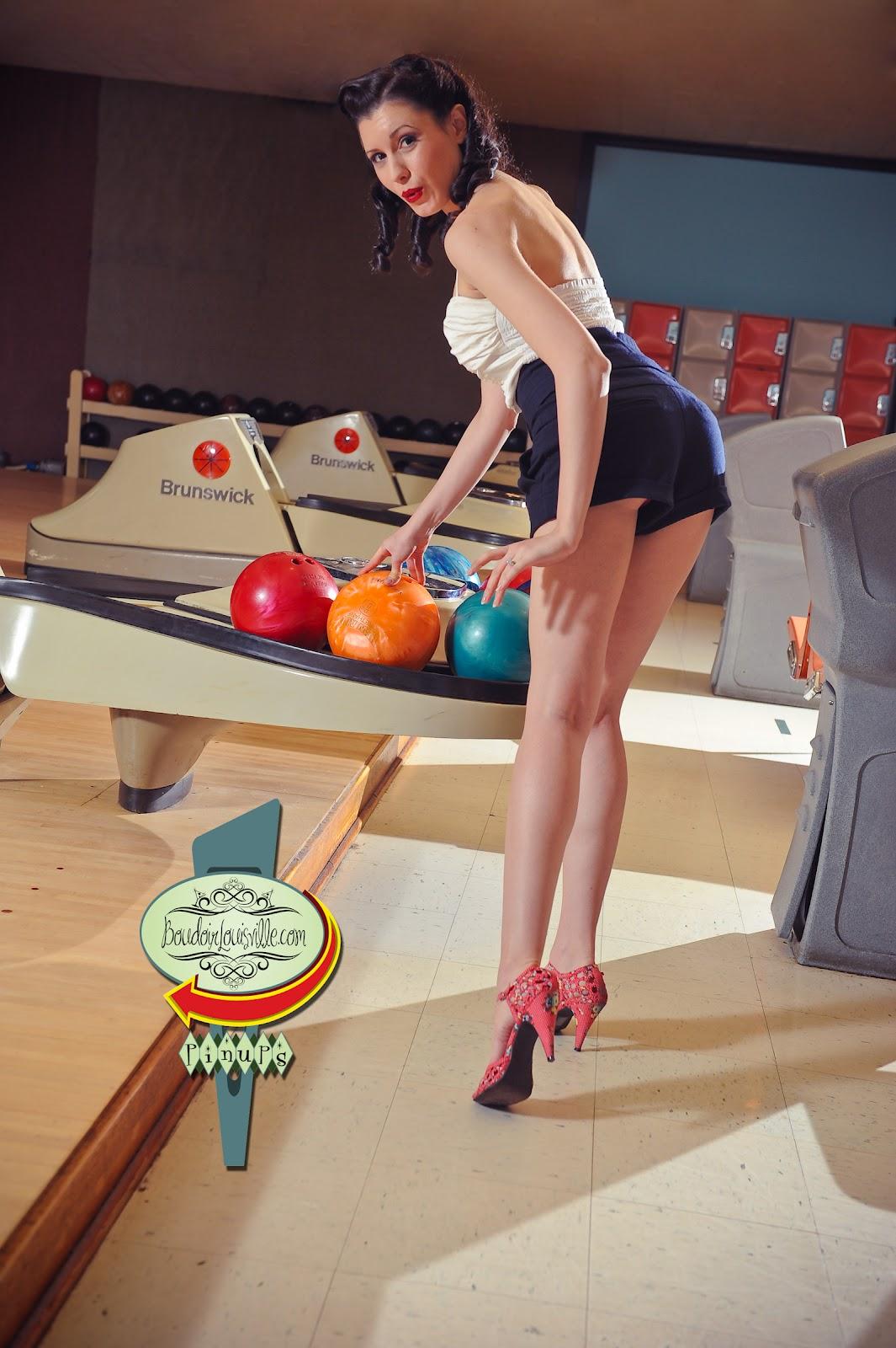 Pin Up Girl Shirts for Men - Bowling