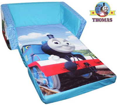 A fun kids furniture bed Thomas the train and friends railway theme sofa can release and flip open