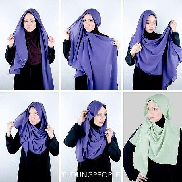 Hijab mode comment nouer un foulard hijab hijab et voile mode style mariage et fashion dans - Comment mettre un voile d hivernage ...