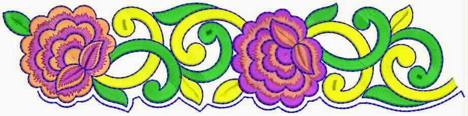 rose blomme Kant grens ontwerp