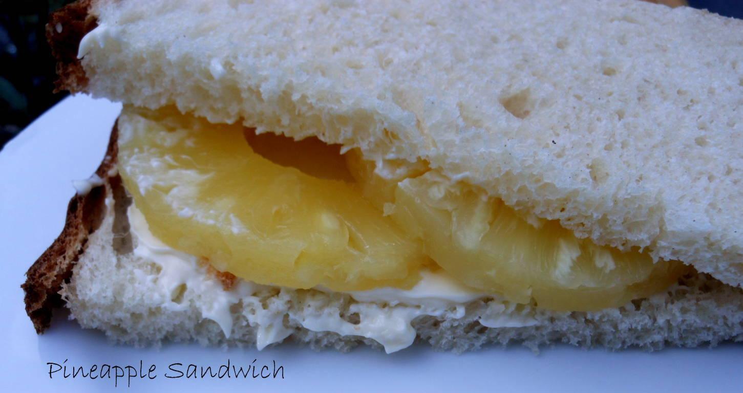 pineapple and mayonnaise sandwich