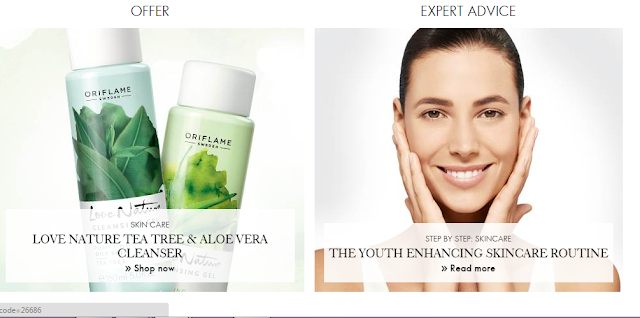 Expert Advice at Oriflame Website