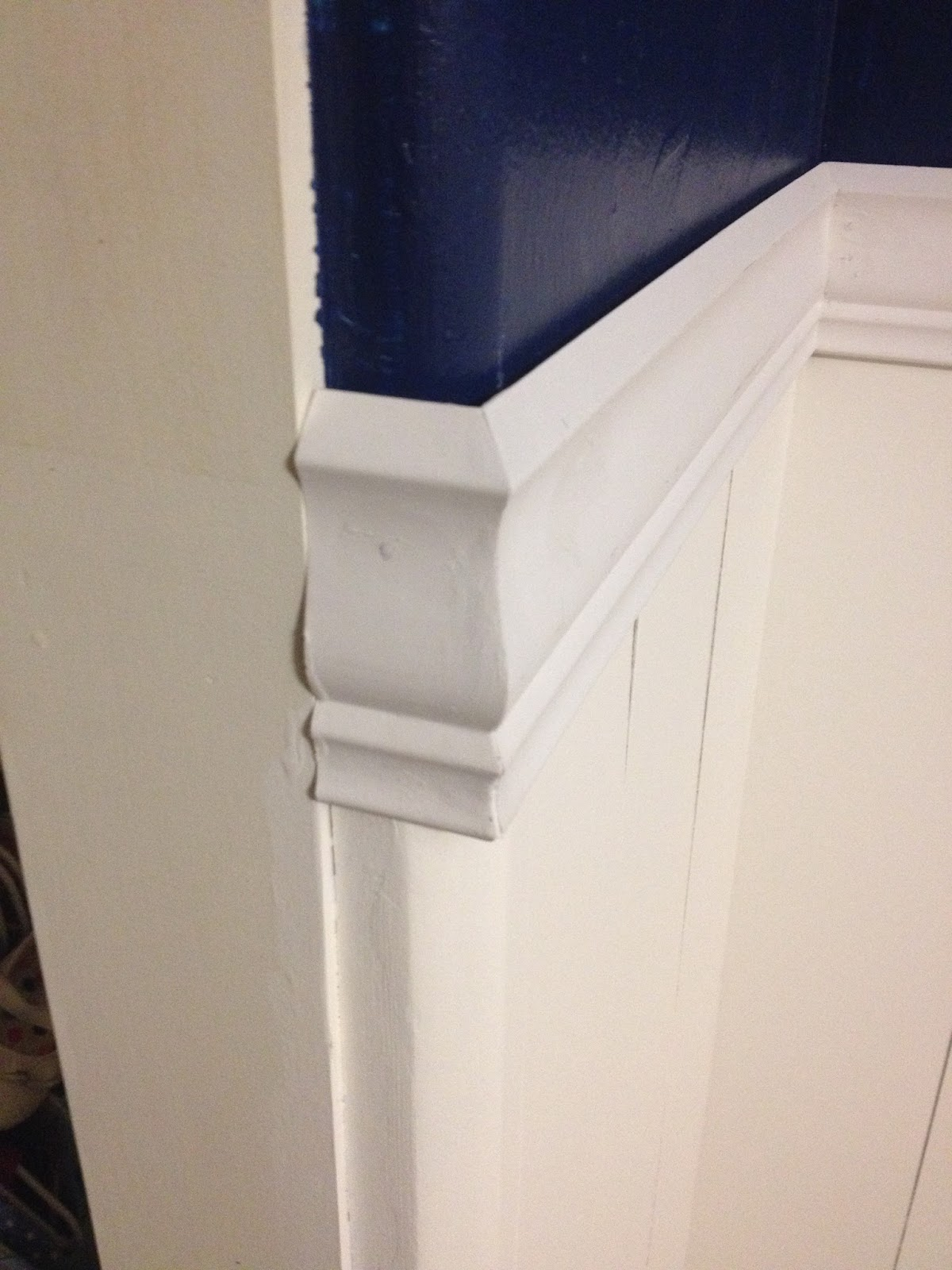 chair rail rounded corners
