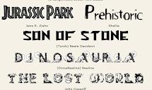 Letras de dinosaurios.¡¡Para escribir títulos sorprendentes!!