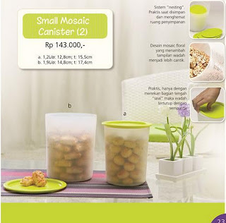 Tupperware Small Mosaic Canister 2