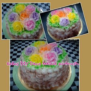 Kelas DIY Deco Cake - Airbrush RM250