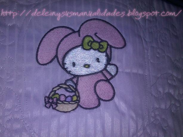 Lenceria De Baño De Hello Kitty:Delein Padilla y sus manualidades: Juego de Baño Hello Kitty conejita