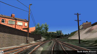 Fastline Simulation - North Staffs Minerals: The steep exchange sidings at the back of Railway Terrace off Brown Lees Road, Knypersley, Biddulph.
