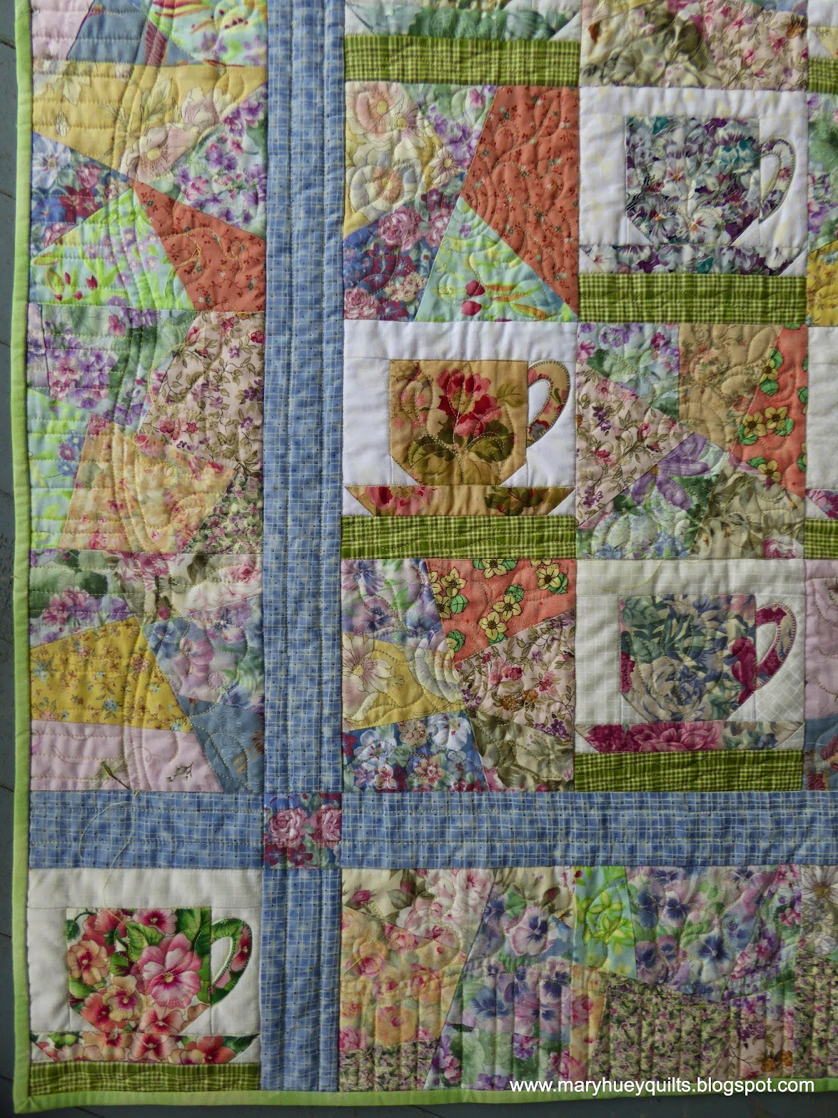 Quilting Through Rose Colored Trifocals The Teacup Quilt