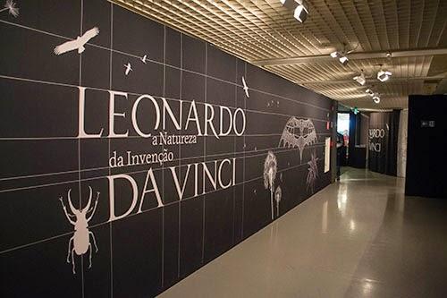 Entrada da exposição sobre Leonardo da Vinci