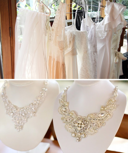stunning statement necklaces for brides -  Perle Jewellery & Makeup