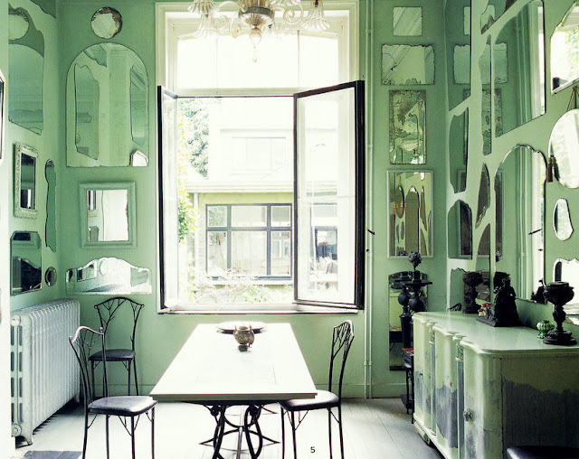 blog.oanasinga.com-interior-design-photos-green-dining-room-with-mirrors
