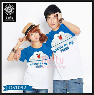 T-shirt Couple Doraemon Stand By Me Kombinasi Face up, 1 Set / 1 Pasang