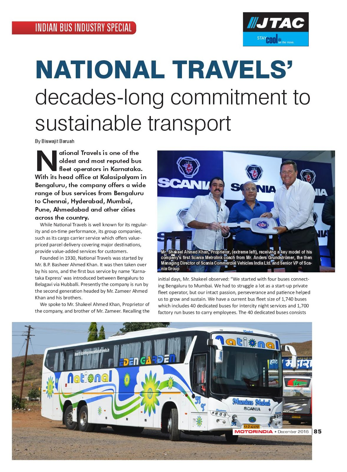 MOTOR INDIA ARTICLE 9 : NATIONAL TRAVELS