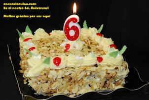 Es el nostre 6é. Aniversari de blog, Moltes gràcies a tot@s  26.01.2016