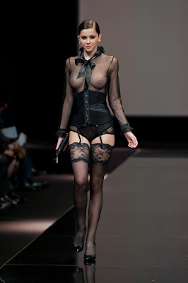 Madalina Pica Totally Won The Lise Charmel Lingerie Fashion Show With Her Boobs