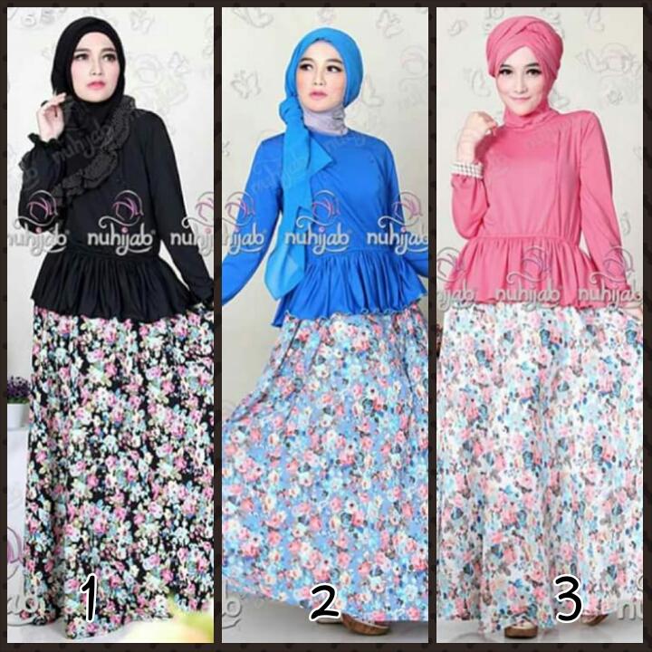 Nuhijab Floria Dress (Toko Jilbab dan Busana Muslimah Terbaru)