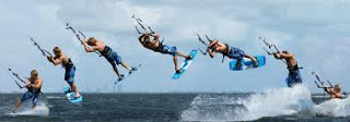Kitesurf deportes de agua secuencia S Bend