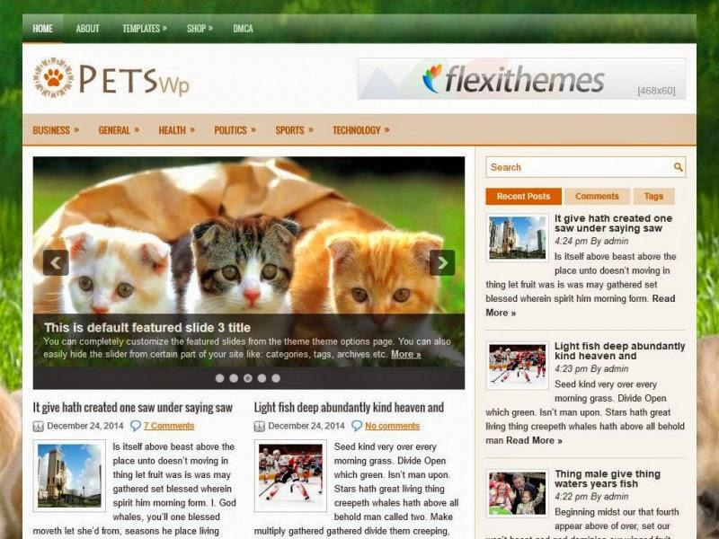 PetsWp - Free Wordpress Theme