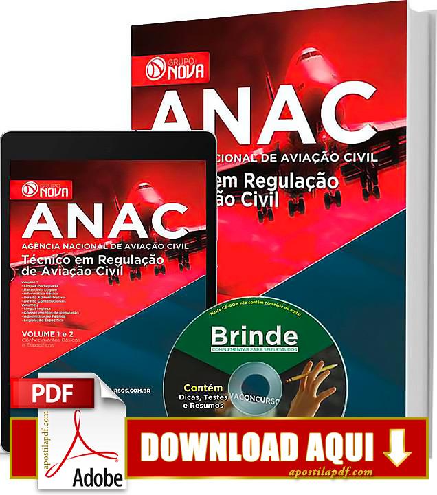 Apostila ANAC 2015 PDF Download Grátis Técnico em Regulação de Aviação Civil