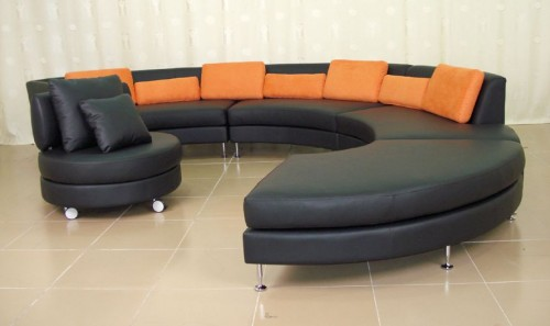 Circular sofa sets design ideas Circular couches living room furniture