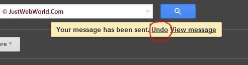 Undo Gmail Email