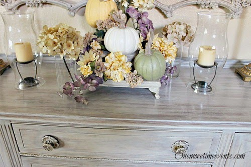 Fall ideas using Hydrangeas at One More Time Events.com