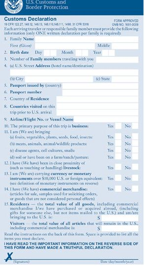 Andrew and emmas wedding us customs declaration form and entry customs declaration form front altavistaventures Images