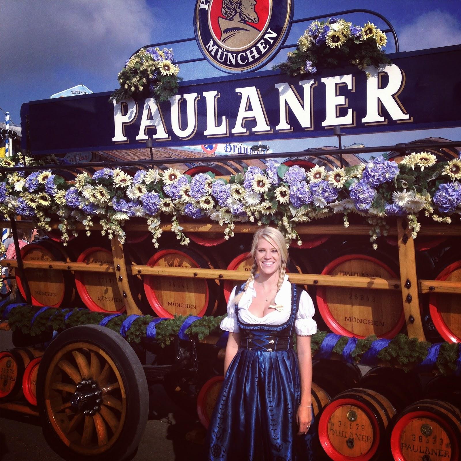 Paulaner Kegs Oktoberfest dirndl