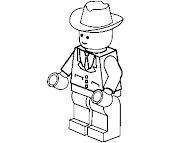#4 Lego Coloring Page