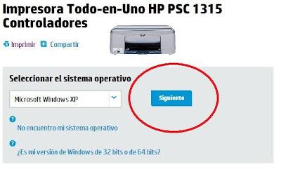 hacer clic en siguiente cuando seleccione el sistema operativo compatible