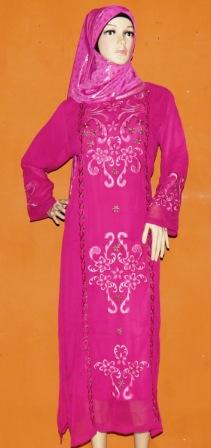 Gamis Bordir Lavia Gp052 Grosir Baju Muslim Murah Tanah