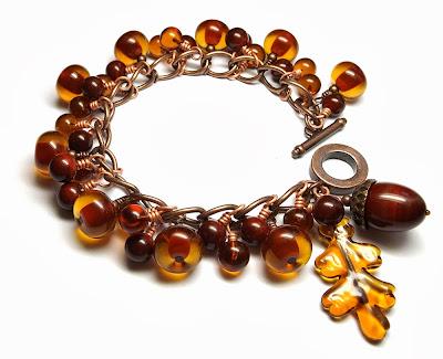 Lampwork glass bracelet