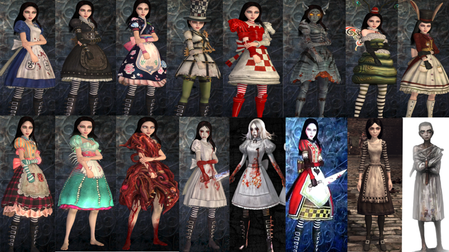 alice madness returns costumes